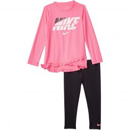 Dri-FIT Crossover T-Shirt and Leggings Two-Piece Set (Little Kids)