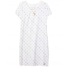 Lana Anchor Lace-Up Shirtdress