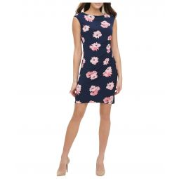 Lily Cluster Jersey Side Ruched Dress