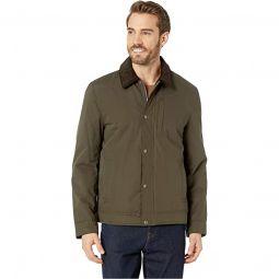 City Rain Padded Barn Jacket with Corduroy Collar