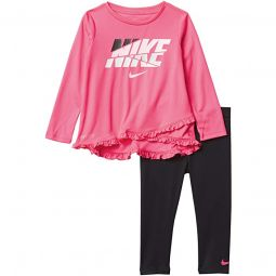 Dri-FIT™ Crossover T-Shirt and Leggings Two-Piece Set (Toddler)