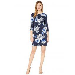 Tommy Hilfiger Savanah Bloom Jersey Grommet Sleeve Dress