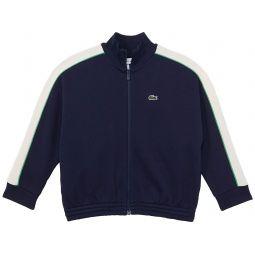 Lacoste Kids Piping Along Sleeves Track Jacket (Toddleru002FLittle Kidsu002FBig Kids)