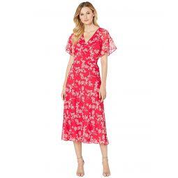 LAUREN Ralph Lauren Floral Tie-Front Georgette Dress