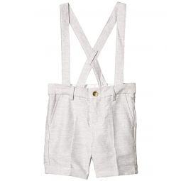 Janie and Jack Linen Suspender Shorts (Toddleru002FLittle Kidsu002FBig Kids)