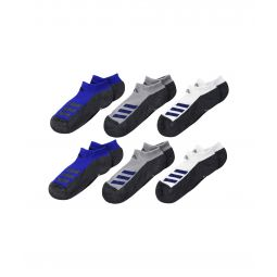 Cushioned Angle Stripe No Show Socks 6-Pack (Toddler/Little Kid/Big Kid/Adult)