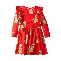 Spaniels Woven Ruffled Dress (Infant/Toddler/Little Kids/Big Kids)