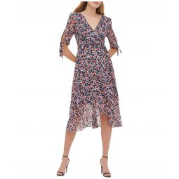 Gansett Floral Chiffon Midi Dress