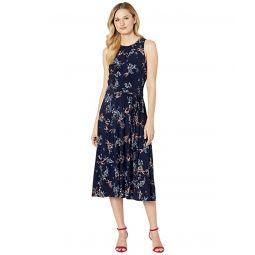 LAUREN Ralph Lauren Floral Fit-and-Flare Jersey Dress