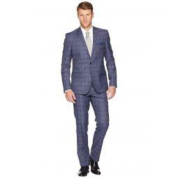 Nick Graham Plaid 32 Finished Bottom Suit