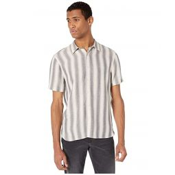Vince Shadow Stripe Short Sleeve Button-Down