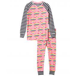 Rainbow Hearts Raglan PJ Set (Toddler/Little Kids/Big Kids)