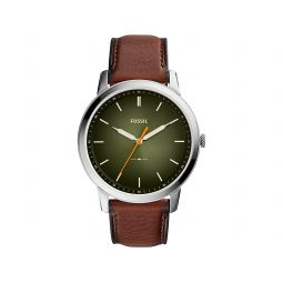 Minimalist Three-Hand Leather Watch - FS5870