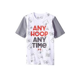 UA Any Hoop Any Time Short Sleeve Tee (Big Kids)