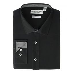 Nick Graham Solid Stretch Dress Shirt