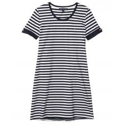 Grommet Sleeve T-Shirt Heritage Stripe Shirtdress