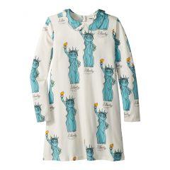 mini rodini Liberty All Over Print Collar Dress (Infant/Toddler/Little Kids/Big Kids)
