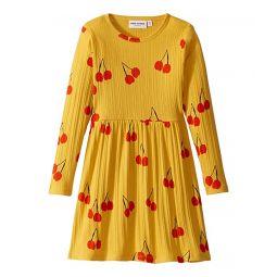 Cherry Long Sleeve Dress (Infant/Toddler/Little Kids/Big Kids)