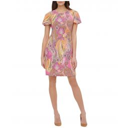Jaipur Paisley Flutter Sleeve A-Line Dress