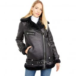 Faux Leather Bonded Biker
