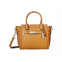 Pebbled Leather Coach Swagger 21