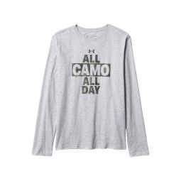 All Camo All Day Long Sleeve Tee (Big Kids)