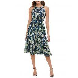 Tommy Hilfiger Madline Floral Chiffon Midi Dress