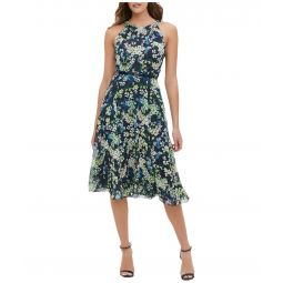 Madline Floral Chiffon Midi Dress