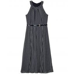 Solo Dot Chiffon Midi Dress