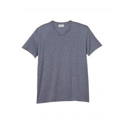 Lacoste Short Sleeve V-Neck Pima Jersey T-Shirt