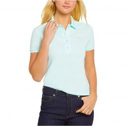 Short Sleeve Slim Fit Stretch Pique Polo