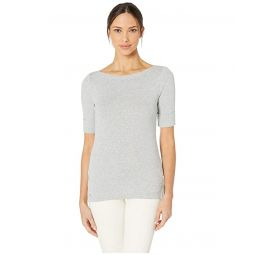 Cotton Boat Neck Top
