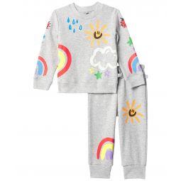 Crayon Weather Sweat Suit Set (Infant)