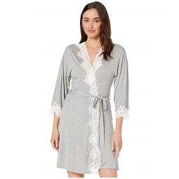 Kimono Knit Lace Robe