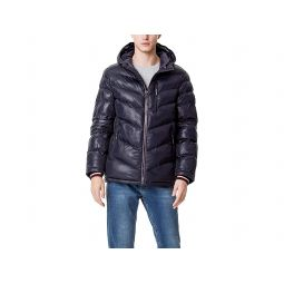 Midweight Chevron Quilted Performance Hooded Puffer Jacket