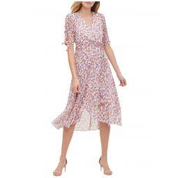 Tommy Hilfiger Gansett Floral Chiffon Midi Dress