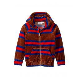 Velour Stripe Zip Hoodie (Toddler/Little Kids/Big Kids)