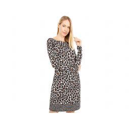MICHAEL Michael Kors Seventies Cat Long Sleeve Border Dress