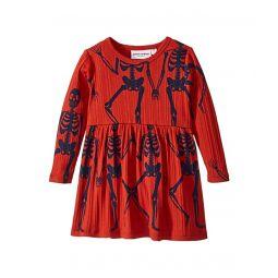 Skeleton All Over Print Long Sleeve Dress (Infant/Toddler/Little Kids/Big Kids)