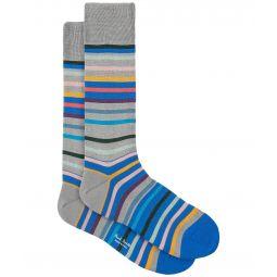 Orwell Mercerized Stripe Sock