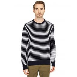 Lacoste Long Sleeve Striped Crew Neck Sweater