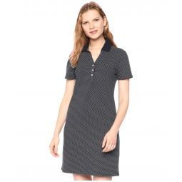Pindot Polo Dress