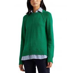 LAUREN Ralph Lauren Layered Cotton Sweater
