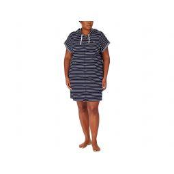 LAUREN Ralph Lauren Plus Size Short Sleeve Drop Shoulder Hooded Zip Lounger