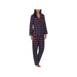 Petite Long Sleeve Brushed Twill Notch Collar PJ Set
