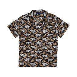 Tiger Print Camp Button-Up Shirt (Toddler/Little Kids/Big Kids)