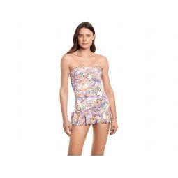 LAUREN Ralph Lauren Majestic Paisley Twist Shirred Skirted One-Piece
