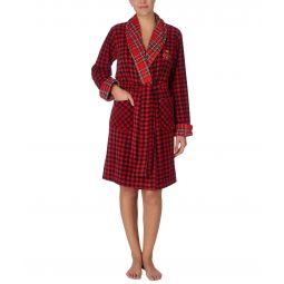 Fleece Short Shawl Collar Robe