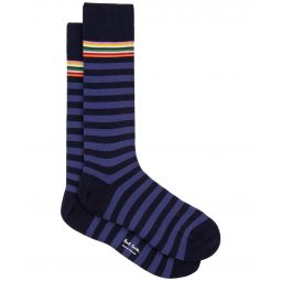 Two Stripe Multi Top Sock