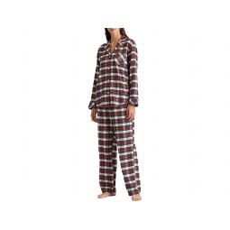 Long Sleeve Brushed Twill Notch Collar PJ Set